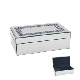 Wide Crystal Jewellery Box