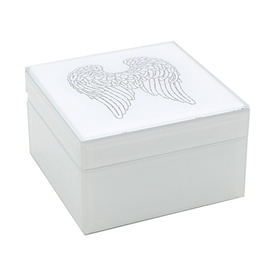 Square Angel Wings Jewellery Box