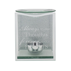In Our Thoughts Glass Panel Oil Burner