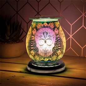 Round Touch Sensitive Aroma Lamp - Candy Skull