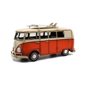 Vintage Orange VW Campervan 31cm