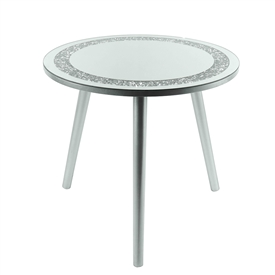 Large Round Crystal Table 48cm