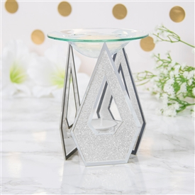 White Glitter Diamond Oil/Wax Warmer