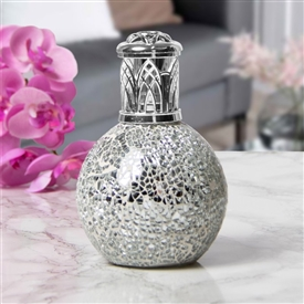 Glass Mosaic Fragrance Lamp - Silver
