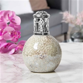 Glass Mosaic Fragrance Lamp - White