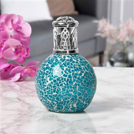 Glass Mosaic Fragrance Lamp - Teal