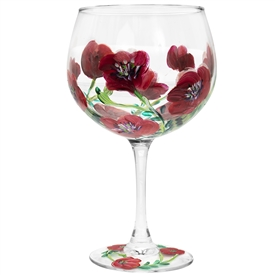 Poppies Glass 21cm