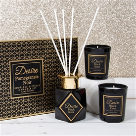 Black Diffuser & Candle Set Pomegranate Noir