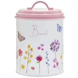 Butterfly Garden Biscuit Canister 20cm