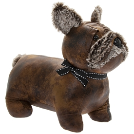 Faux Leather French Bulldog Doorstop