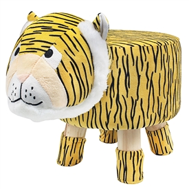 Plush Children's Stool � Tiger