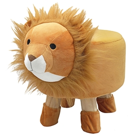 Plush Children's Stool � Lion