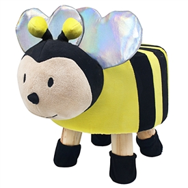 Plush Children's Stool - Bee