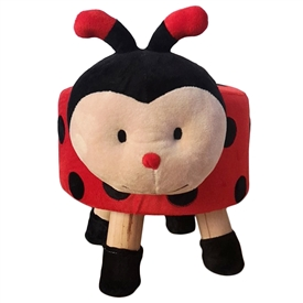 Plush Children's Stool � Ladybird