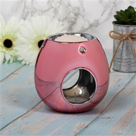 DUE  LATE FEB Luxury Glass Wax Melter - Pink