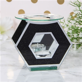 Black Glitter Hexagon Oil/Wax Warmer