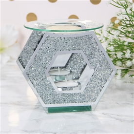 Mirror Crystal Hexagon Oil/Wax Warmer