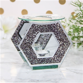 Black Crystal Hexagon Oil/Wax Warmer