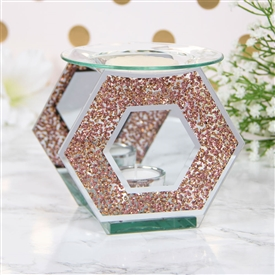 Pink Crystal Hexagon Oil/Wax Warmer
