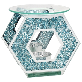 Teal Crystal Hexagon Oil/Wax Warmer