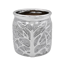 Silver Tree Of Life Planter 14cm