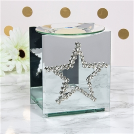 Clear Crystal Star Oil/Wax Warmer 14cm