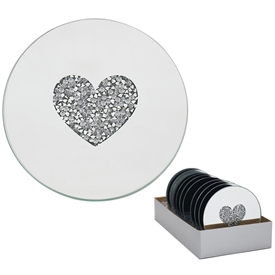 Heart Candle Plate 10cm