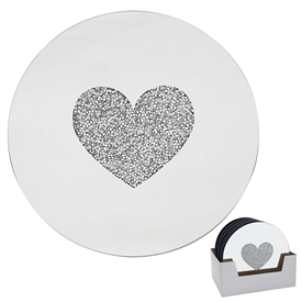 Heart Candle Plate 20cm