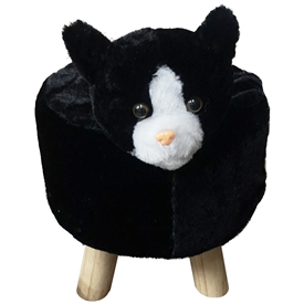 Plush Children's Stool Cat