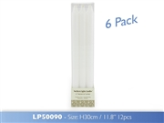 Taper Candles Pack Of 6 - White