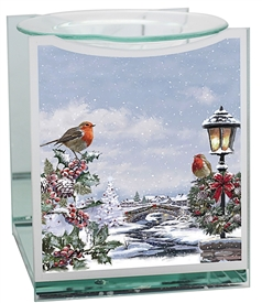Christmas Robin Oil Burner 14cm