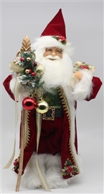 Standing Red Santa Ornament 31cm