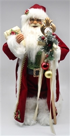 Standing Red Santa Ornament 82cm
