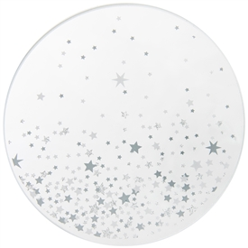 Star Design Candle Plate 10cm