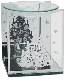 Christmas Tree Merry Christmas Oil Burner 14cm