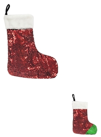 Red And Green Sequin Stocking 40cm