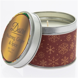 Desire Candle In Tin Nutmeg, Ginger And Spice 7cm
