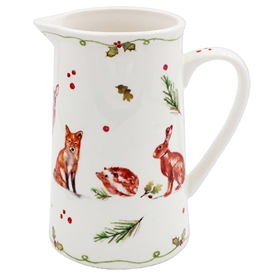 Winter Forest Critters Jug