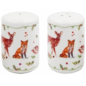 Winter Forest Critters Cruet Set