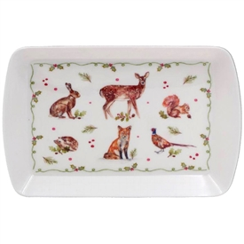 Winter Forest Critters Tray