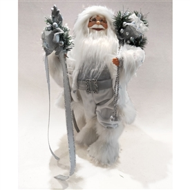 Standing Santa Decoration � Silver 18�