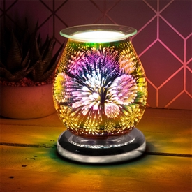 Touch Sensitive Round Aroma Lamp � Snowflake