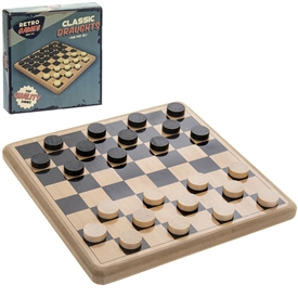 Retro Wooden Draughts Pack