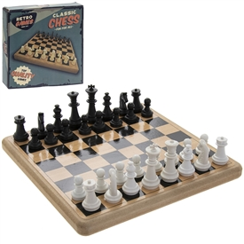 Retro Wooden Chess Pack