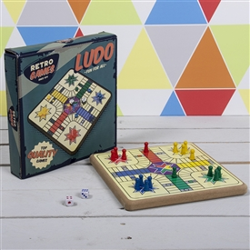 Retro Wooden Ludo Pack