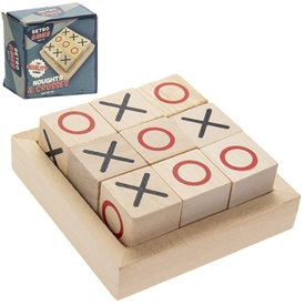 Retro Wooden Noughts and Crosses Pack