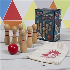 Retro Wooden Skittles Game