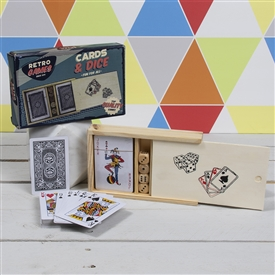 Retro Wooden Poker Pack