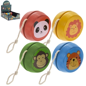 Wooden Animal Yoyo 4 Assorted SOLD IN 24's
