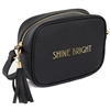 REDUCED Shine Bright Black Shoulder Bag 22cm